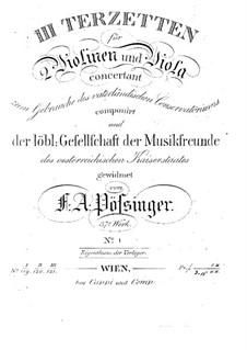 Drei Terzetten für zwei Violinen und Bratsche, Op.37: Trio Nr.1 in F-Dur by Franz Alexander Pössinger