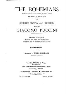 Complete Opera: Piano score by Giacomo Puccini