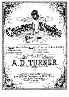 Six Concert Etudes: No.1 Octave valse brillante by Alfred Dudley Turner