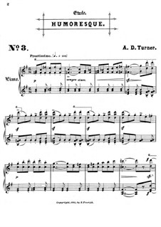 Six Concert Etudes: No.3 Humoresque by Alfred Dudley Turner