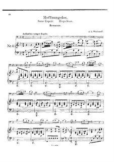 Hopeless: For cello and piano by Alexander Varlamov
