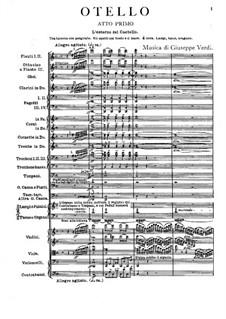 Otello: Act I by Giuseppe Verdi