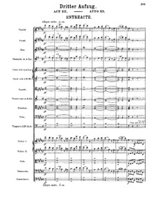 Fragments: Act III by Richard Wagner