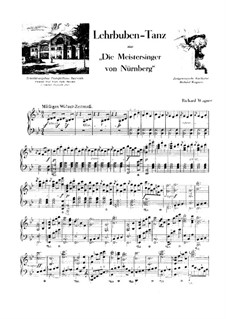 Dance of the Apprentices: For piano by Richard Wagner