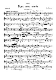 Six Sketches for Piano Trio: Violin part by Charles Mélant
