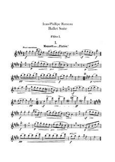 Ballet Suite on 'Platée' and 'Les fêtes d'Hébé': Flutes parts by Jean-Philippe Rameau
