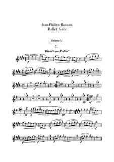 Ballet Suite on 'Platée' and 'Les fêtes d'Hébé': Oboes and cor anglais parts by Jean-Philippe Rameau