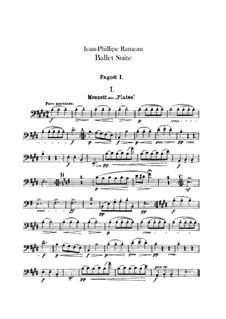 Ballet Suite on 'Platée' and 'Les fêtes d'Hébé': Bassoons parts by Jean-Philippe Rameau