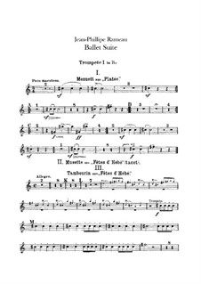 Ballet Suite on 'Platée' and 'Les fêtes d'Hébé': Trumpets parts by Jean-Philippe Rameau