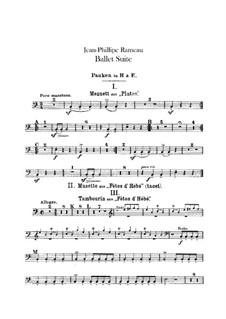 Ballet Suite on 'Platée' and 'Les fêtes d'Hébé': Percussion parts by Jean-Philippe Rameau