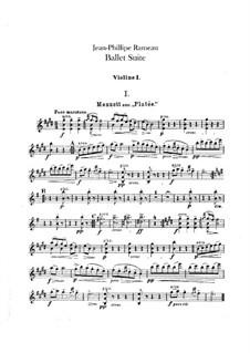 Ballet Suite on 'Platée' and 'Les fêtes d'Hébé': Violins parts by Jean-Philippe Rameau