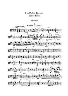 Ballet Suite on 'Platée' and 'Les fêtes d'Hébé': Viola part by Jean-Philippe Rameau