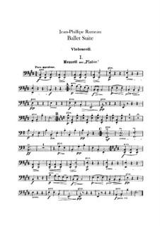 Ballet Suite on 'Platée' and 'Les fêtes d'Hébé': Cello part by Jean-Philippe Rameau
