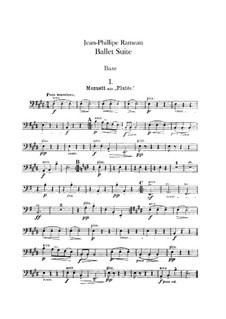 Ballet Suite on 'Platée' and 'Les fêtes d'Hébé': Double bass part by Jean-Philippe Rameau