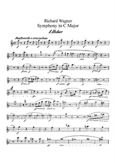 Symphony in C Major, WWV 29: Oboes parts by Richard Wagner