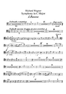 Symphony in C Major, WWV 29: Trombones parts by Richard Wagner