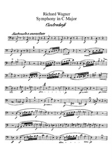 Symphony in C Major, WWV 29: Double bass part by Richard Wagner