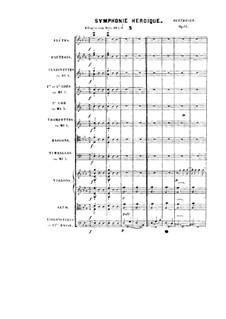Symphony No.3 'Eroica', Op.55: Full score by Ludwig van Beethoven