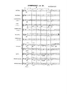 Symphony in B Flat Major: Symphony in B Flat Major by Ludwig van Beethoven