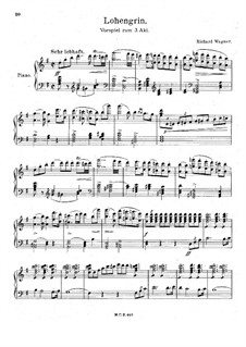 Fragments: Introduction to Act III, for piano by Richard Wagner