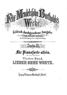 Songs without Words, Op.19b: Complete set by Felix Mendelssohn-Bartholdy