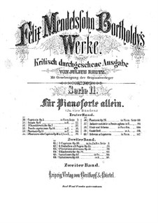 Three Caprices, Op.33: Complete set by Felix Mendelssohn-Bartholdy