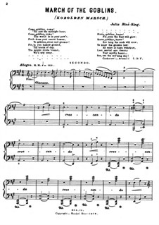 March of the Goblins: For piano four hands by Julie Rivé-King