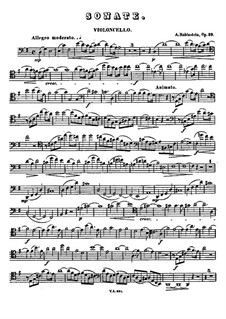 Sonata for Cello and Piano No.2 in G Major, Op.39: Solo part by Anton Rubinstein