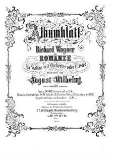 Album Leaf (Romance), WWV 94: For violin and piano – solo part by Richard Wagner