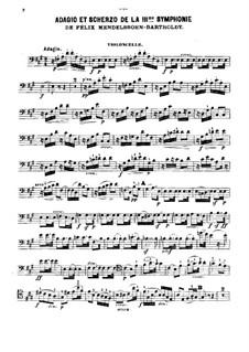 Symphony No.3 in A Minor 'Scottish', Op.56: Adagio and Scherzo, for piano trio – cello part by Felix Mendelssohn-Bartholdy