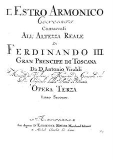 Concerto for Two Violins and Strings No.8 in A Minor, RV 522: Cello part by Antonio Vivaldi