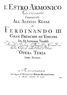 Concerto for Two Violins and Strings No.8 in A Minor, RV 522: Basso continuo part by Antonio Vivaldi