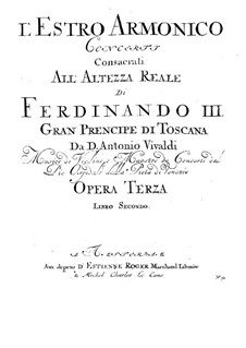 Concerto for Two Violins, Cello and Strings No.11 in D Minor, RV 565: Violin II solo part by Antonio Vivaldi