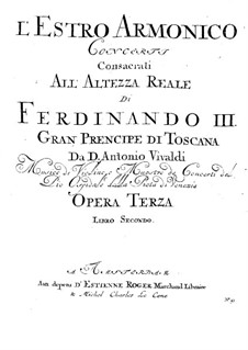 Concerto for Two Violins, Cello and Strings No.11 in D Minor, RV 565: Viola II part by Antonio Vivaldi