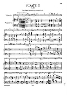 Sonata for Cello and Piano No.2 in D Major, Op.58: Score by Felix Mendelssohn-Bartholdy