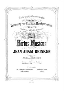 Hortus Musicus. Sonatas and Suites for Strings and Basso Continuo: Introduction by Johann Adam Reincken