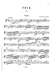 Piano Trio No.3 in B Flat Major, Op.52: Violin part by Anton Rubinstein