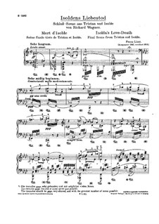Isolde's Love Death: For piano (with fingering) by Richard Wagner