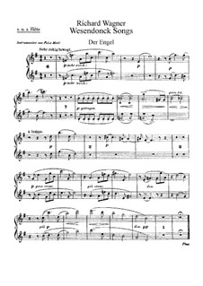 Wesendonck Songs, WWV 91: For voice and orchestra – flutes part by Richard Wagner