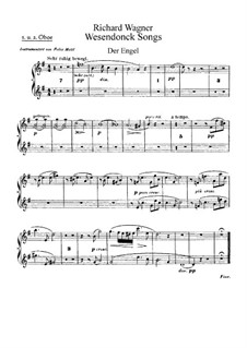 Wesendonck Songs, WWV 91: For voice and orchestra – oboes part by Richard Wagner