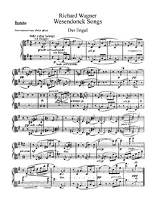 Wesendonck Songs, WWV 91: For voice and orchestra – violas parts by Richard Wagner