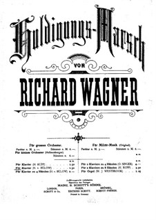 Homage March, WWV 97: For piano by Richard Wagner