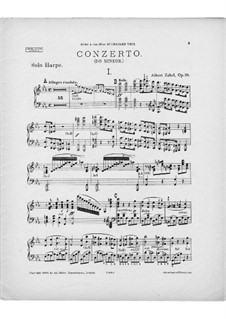 Harp Concerto in C Minor, Op.35: Version for harp and piano – harp part by Albert Zabel