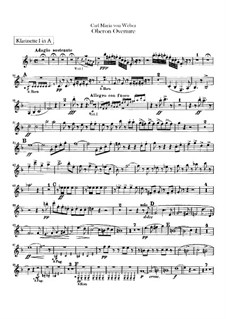 Overture: Clarinets parts by Carl Maria von Weber