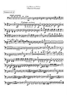 Overture: Timpani part by Carl Maria von Weber