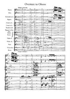 Overture: Full score by Carl Maria von Weber