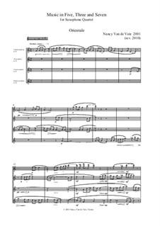 Music in Five, Three and Seven: Full score by Nancy Van de Vate
