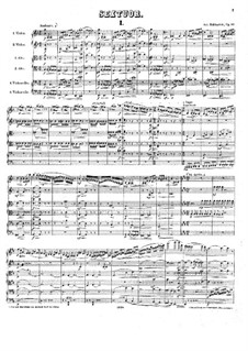 String Sextet in D Major, Op.97: Full score by Anton Rubinstein