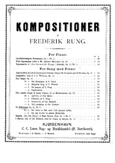 Two Folk Songs for Voice and Piano, Op.21: Two Folk Songs for Voice and Piano by Frederik Rung