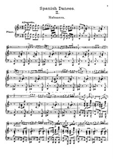 Habanera, Op.21: For violin and piano by Pablo de Sarasate